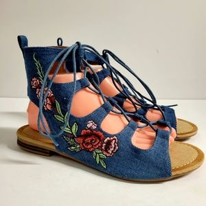 SOLD ON FB! NEW Blue Jean Sandals Size 9